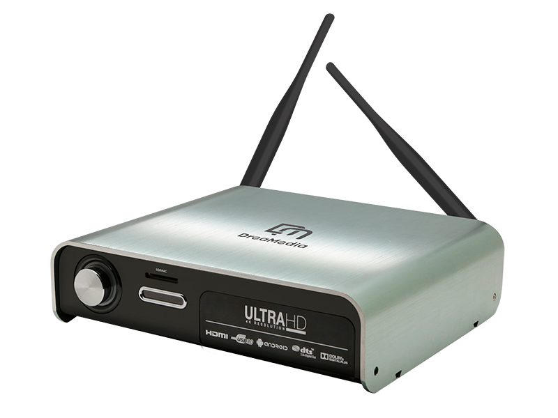 high end 4k media player with hard drive input