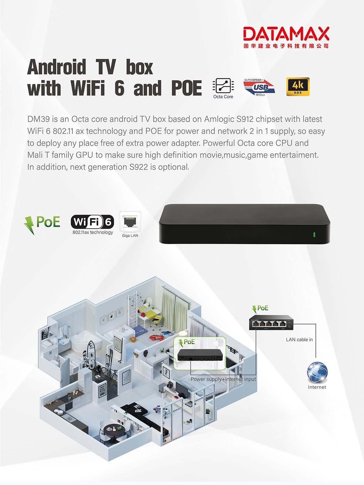 Octa core android box based on S912/S922 chipset support android 7.1.2/9.0 4